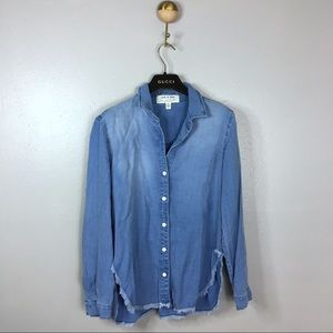 Anthropologie Cloth & Stone Chambray Button Down S